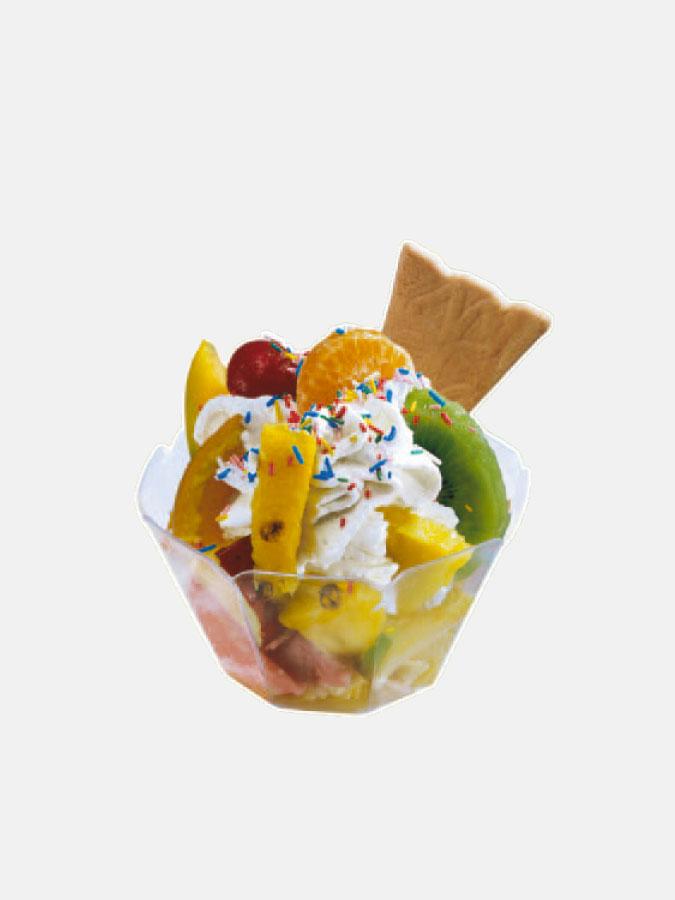 adesivo bifacciale frutta asporto