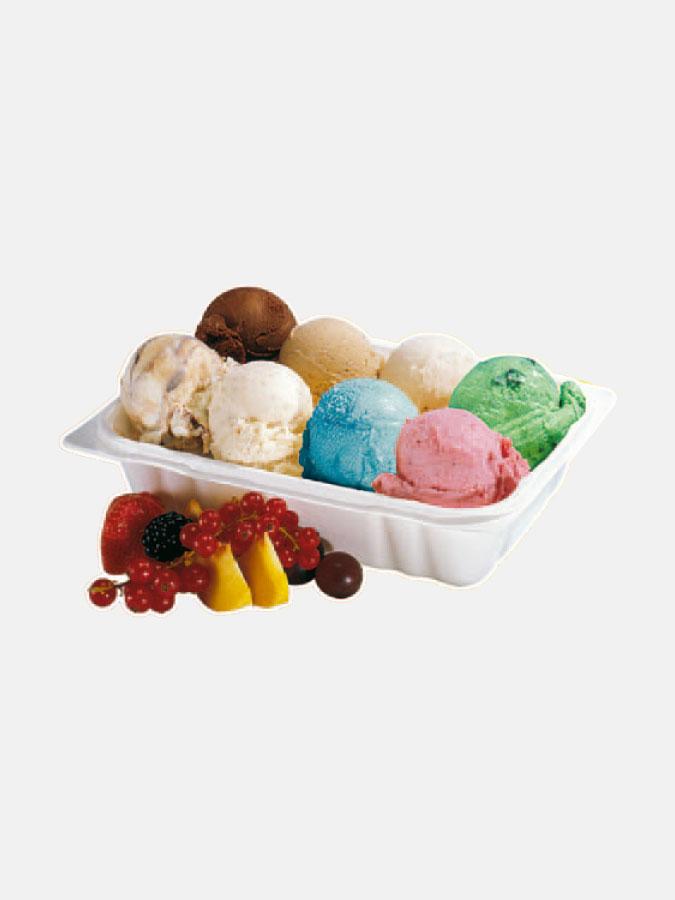 Ice-cream take-away adhesive