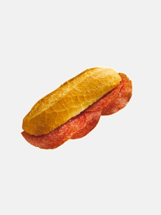 Adhésif sandwich au salami