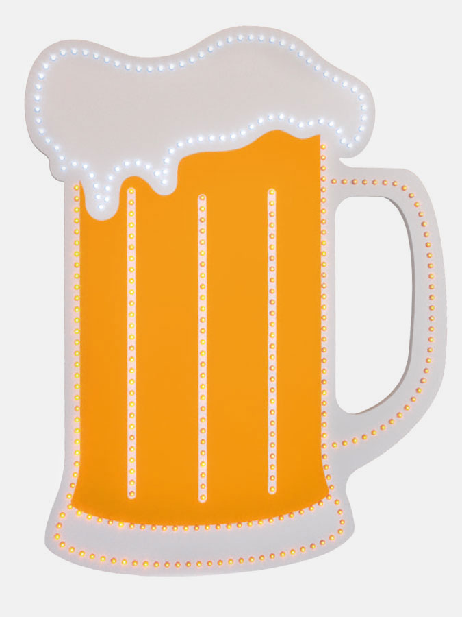 Beer mug visible LED - Art.0725