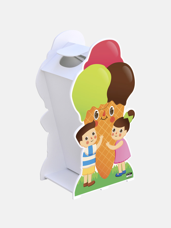 Baby double-sided waste bin with lid - Art. 0776/C