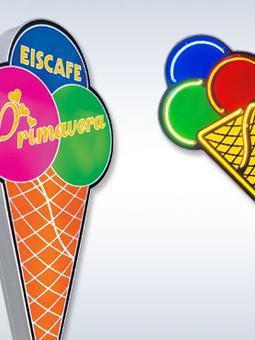 Coni e coppe gelato pubblicitarie