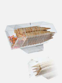 Portaconi orizzontale con vano portacucchiaini e coperchio - Art. 0909/CP
